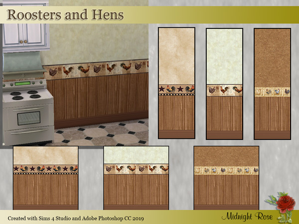 Sims 4 Roosters and Hens by MidnightRose at TSR