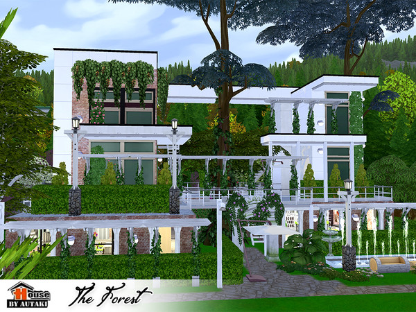 The Forest Eco modern style House by autaki at TSR image 11100 Sims 4 Updates