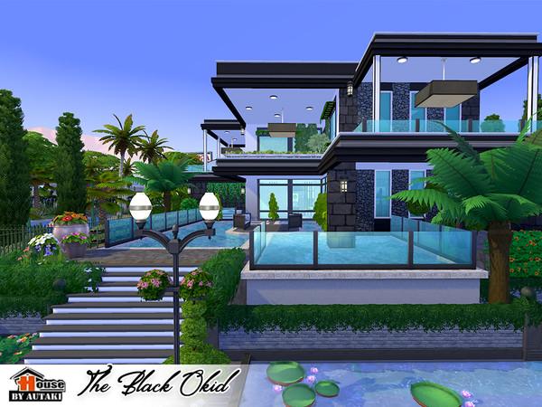 The Black Okid Luxury modern style house by autaki at TSR image 11102 Sims 4 Updates