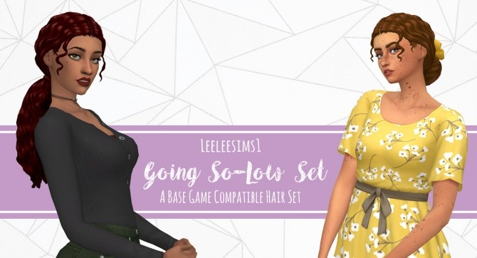 Sims 4 Going So Low Hair Set at leeleesims1