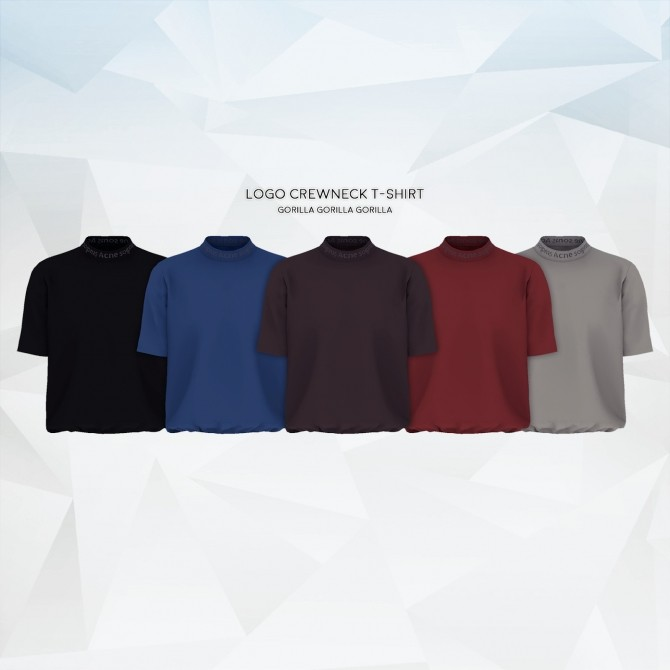 Logo Crewneck T Shirt at Gorilla image 11312 670x670 Sims 4 Updates