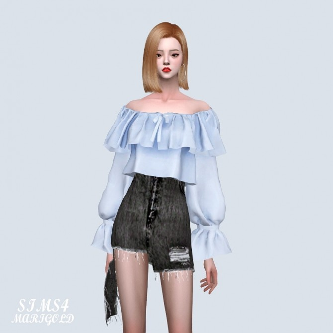 Spring Lovely Off Shoulder Crop Blouse (P) at Marigold image 1133 670x670 Sims 4 Updates