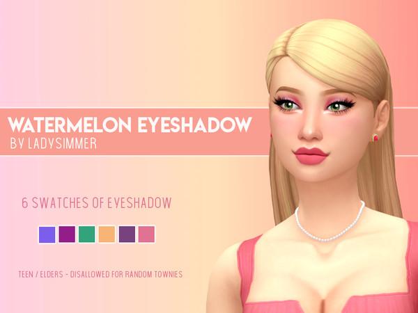 Sims 4 Watermelon Eyeshadow by LadySimmer94 at TSR