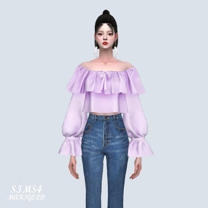 Spring Lovely Off Shoulder Crop Blouse (P) at Marigold image 1143 670x670 Sims 4 Updates