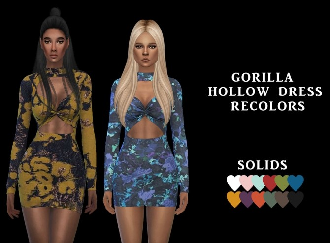 Hollow Dress Rc at Leo Sims image 1144 670x494 Sims 4 Updates