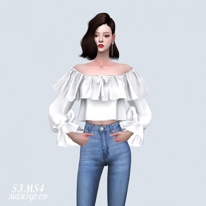 Spring Lovely Off Shoulder Crop Blouse (P) at Marigold image 1153 670x670 Sims 4 Updates