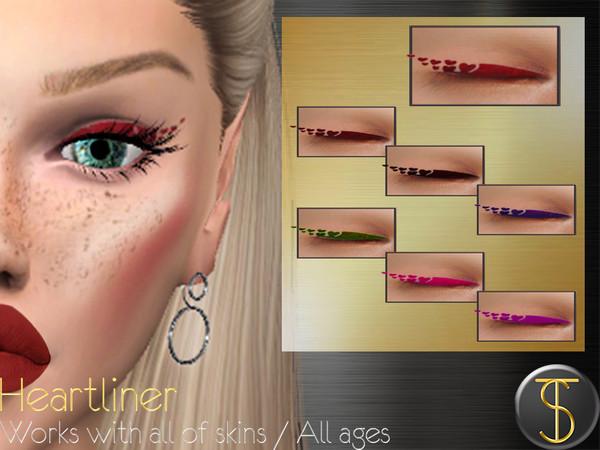 Sims 4 Heart liner by turksimmer at TSR