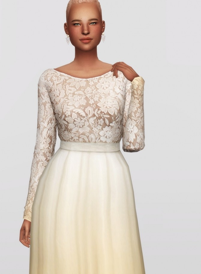 White clover embroidered gown at Rusty Nail image 11611 670x912 Sims 4 Updates