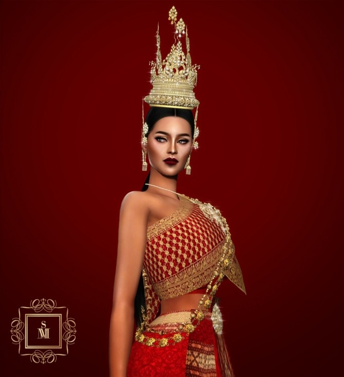 Sims 4 BENYAGUY TRADITIONAL THAI HEADPIECE ACCESSORY at MSSIMS