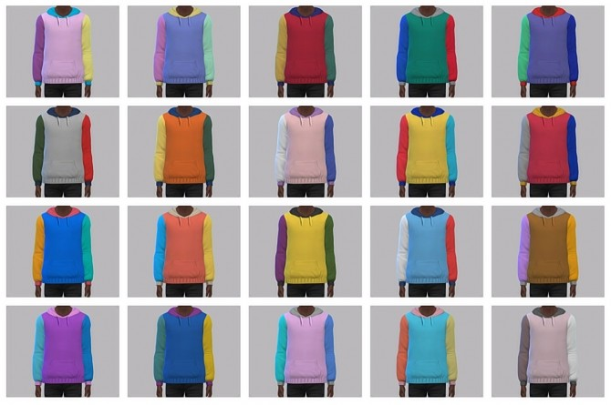 Sims 4 Multi Colored Hoodie at Maimouth Sims4