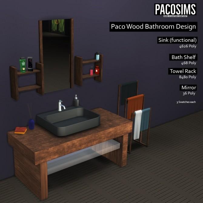 Sims 4 Wood Bathroom Design (P) at Paco Sims