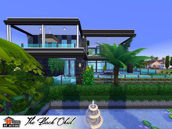 The Black Okid Luxury modern style house by autaki at TSR image 12100 Sims 4 Updates