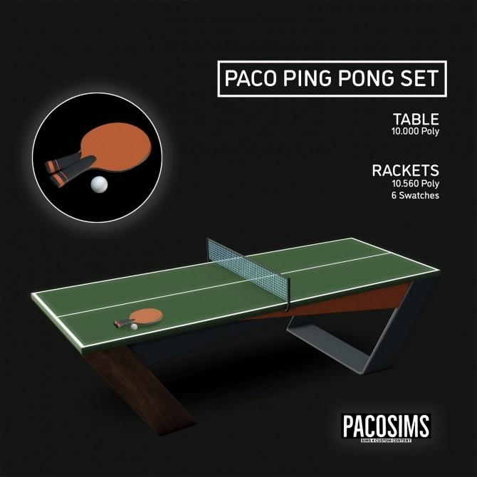 Sims 4 PING PONG TABLE (P) at Paco Sims