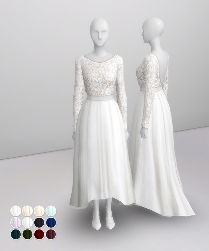 White clover embroidered gown at Rusty Nail image 1214 670x804 Sims 4 Updates