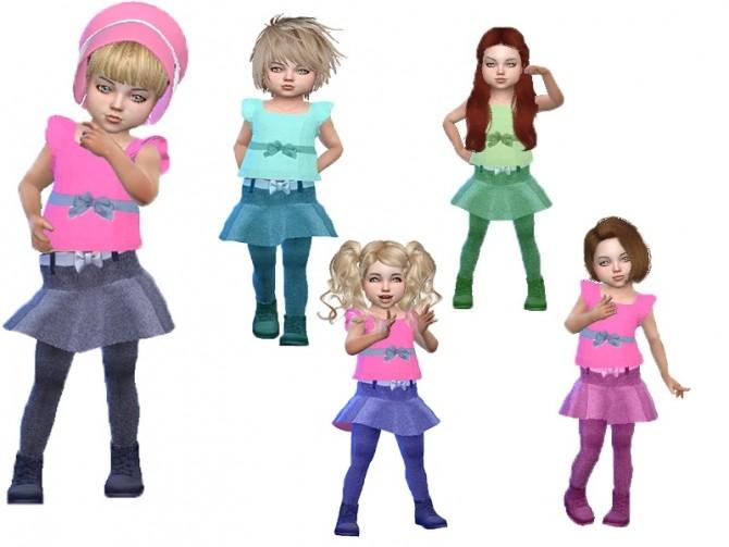 Sims 4 T55 Toddler girl set at Trudie55