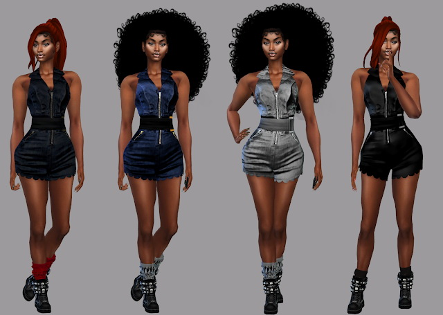 Zoe Romper Recolor at Teenageeaglerunner image 1243 Sims 4 Updates