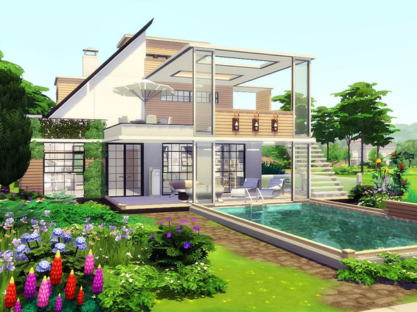 Be No 1 modern house by marychabb at TSR image 1260 Sims 4 Updates