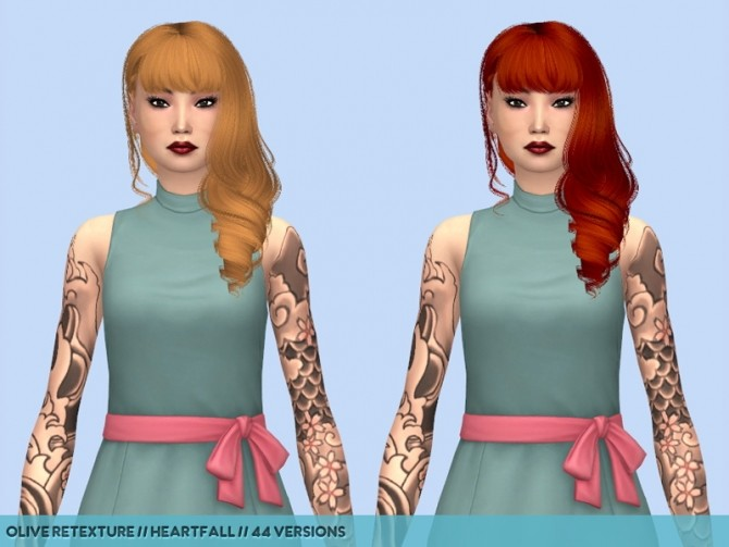 Olive hair retextures at Heartfall image 1263 670x503 Sims 4 Updates