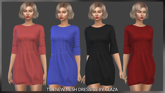 Sims 4 Dress 85 at All by Glaza