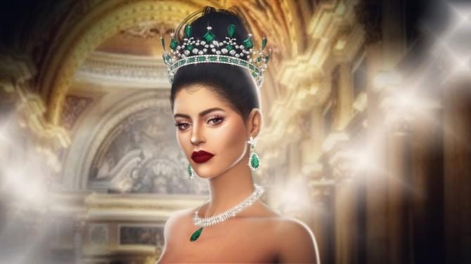 Sims 4 VICTORIA'S EMERALD TIARA at MSSIMS