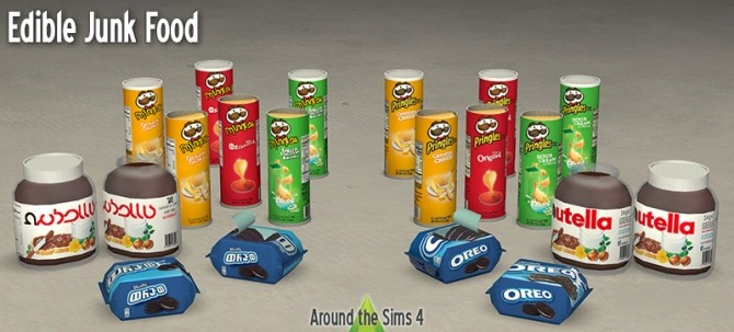 Sims 4 Edible Junk Food by Sandy at Around the Sims 4