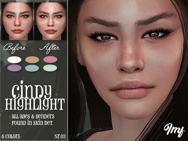 Sims 4 IMF Cindy Highlight N.03 by IzzieMcFire at TSR