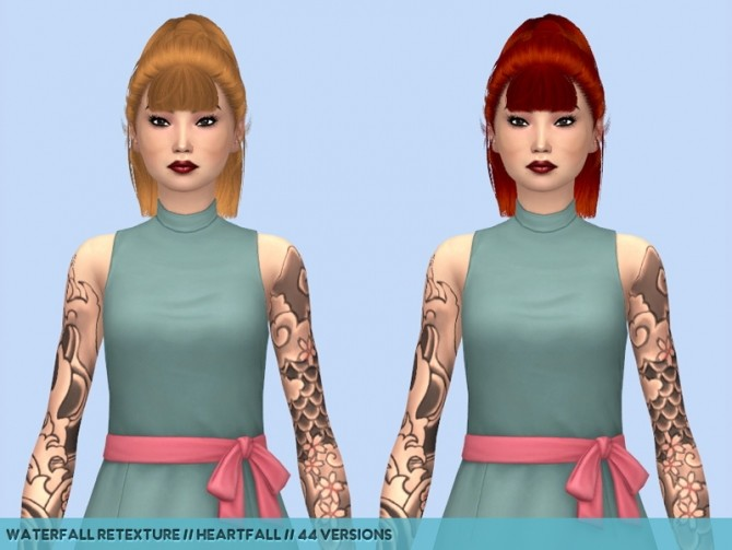 Olive hair retextures at Heartfall image 1273 670x503 Sims 4 Updates