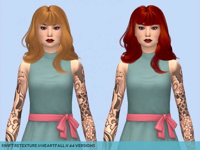 Olive hair retextures at Heartfall image 1283 670x503 Sims 4 Updates