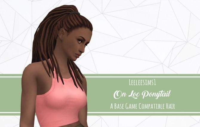 Sims 4 On Loc Ponytail BG Hair at leeleesims1