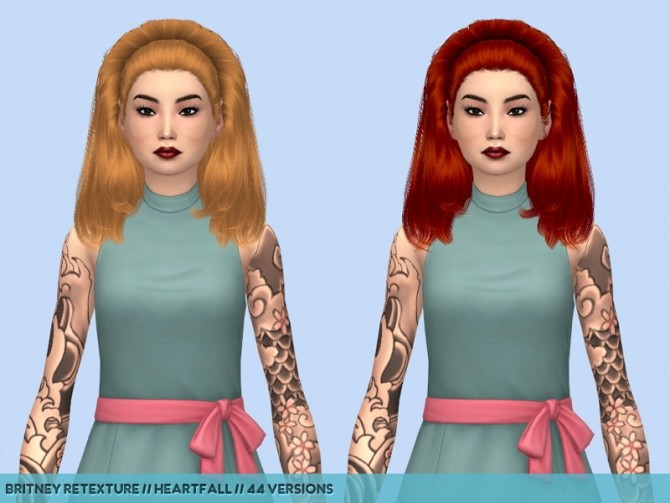Sims 4 Olive hair retextures at Heartfall