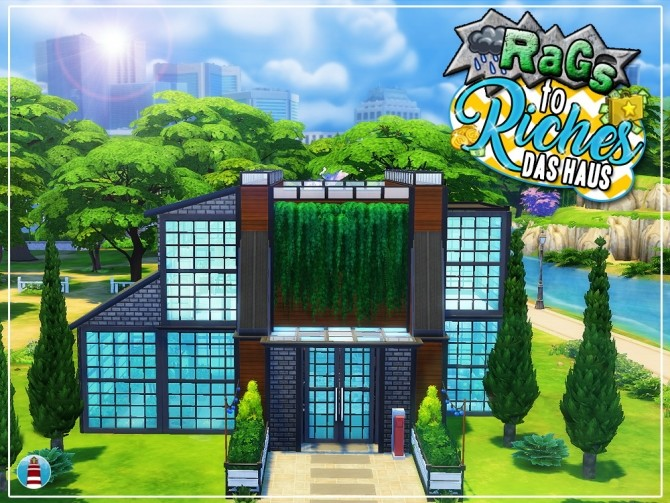 Sims 4 Rags to Riches House by Waterwoman at Akisima