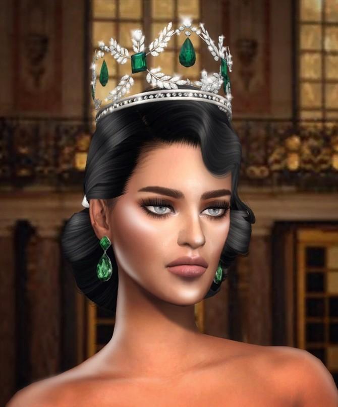 Sims 4 ROYAL EMERALD II CROWN at MSSIMS