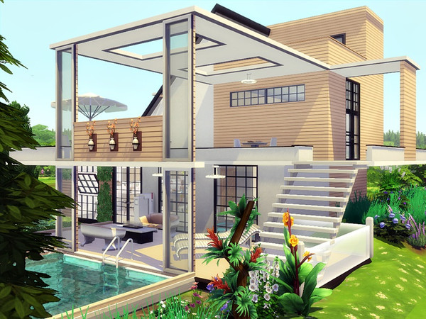 Be No 1 modern house by marychabb at TSR image 1350 Sims 4 Updates