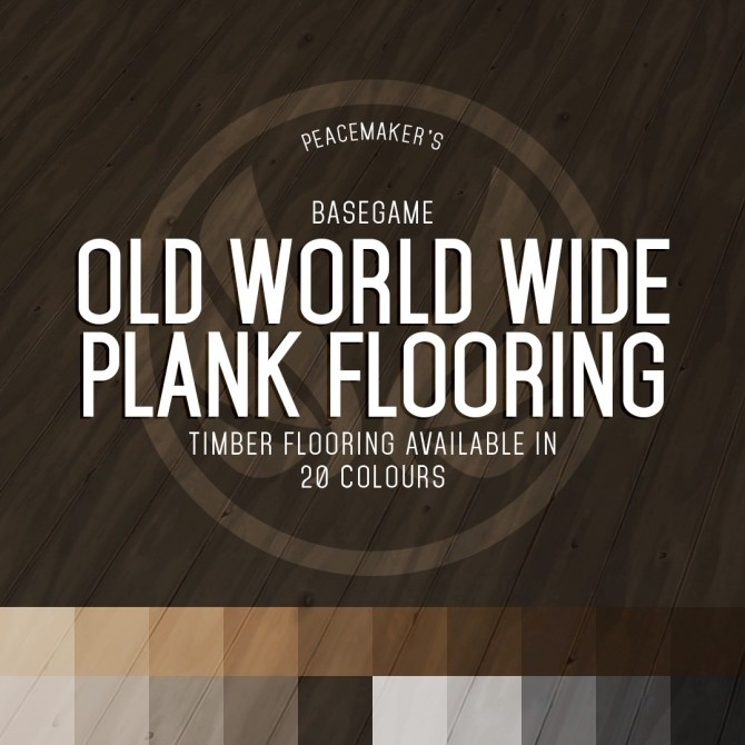Old World Wide Plank Flooring Basegame Floor Recolour at Simsational Designs image 1363 670x670 Sims 4 Updates