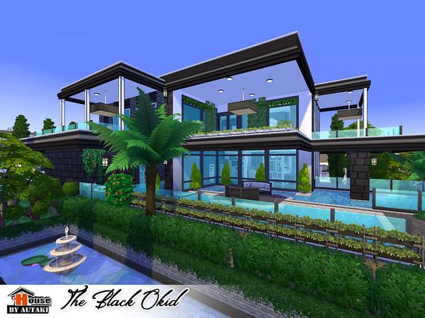 The Black Okid Luxury modern style house by autaki at TSR image 1370 Sims 4 Updates