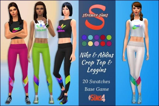 Sims 4 Crop Top & Leggings at Strenee Sims