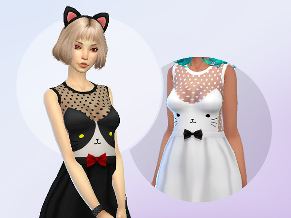 Dress Cat Face by Saruin at TSR image 1399 Sims 4 Updates
