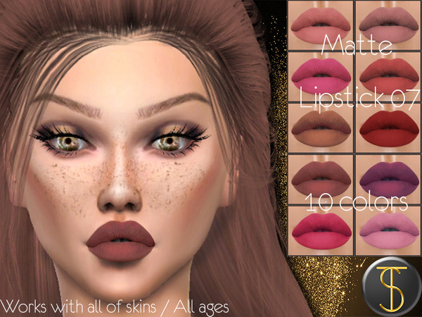 Sims 4 Matte Lipstick 07 by turksimmer at TSR