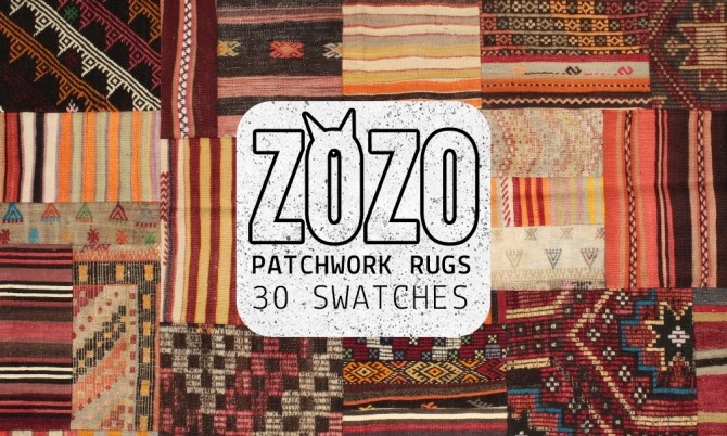 Sims 4 PATCHWORK RUGS at Zozothebrit