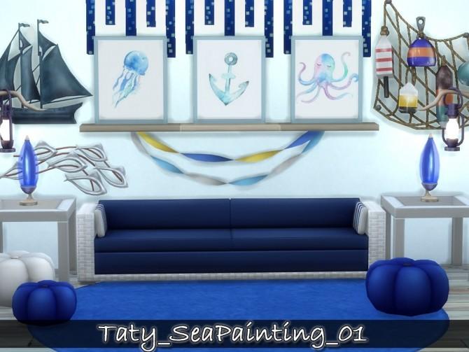 Sims 4 Sea paintings 01 at Taty – Eámanë Palantír