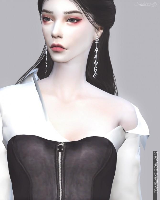 STRANGE Earrings at RYUFFY image 1452 670x838 Sims 4 Updates