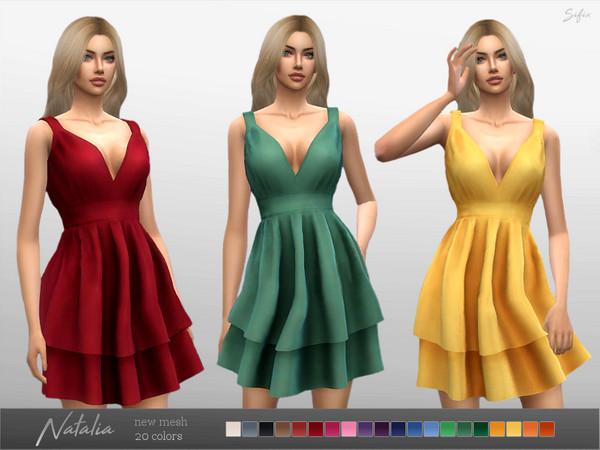 Sims 4 Natalia Dress by Sifix at TSR