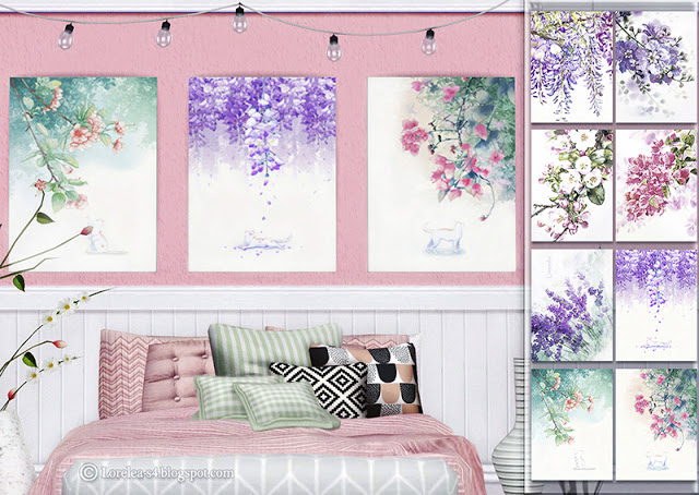 Sims 4 Floral Paintings at Lorelea
