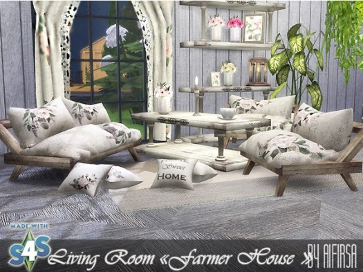 Farmer house living room at Aifirsa image 1491 Sims 4 Updates