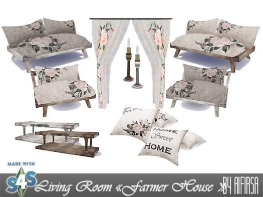 Sims 4 Farmer house living room at Aifirsa