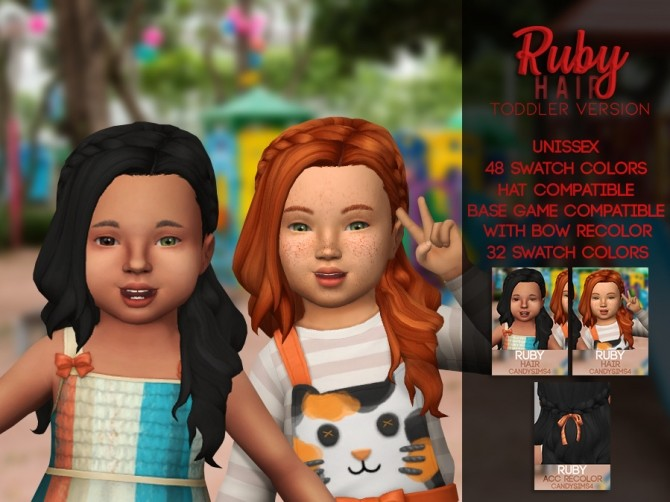 RUBY HAIR CONVERTED FOR TODDLER at Candy Sims 4 image 1503 670x502 Sims 4 Updates