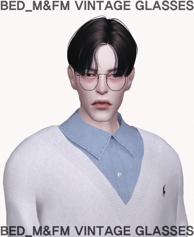 Sims 4 M&FM vintage glasses at Bedisfull – iridescent