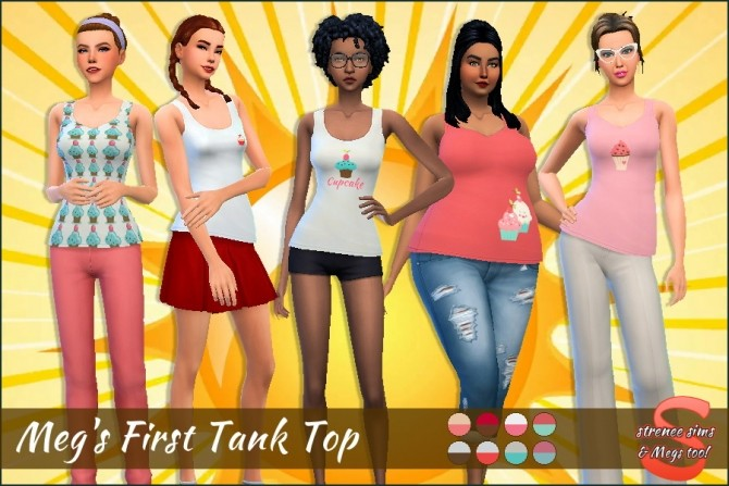 Meg's First Tank Top at Strenee Sims image 1516 670x447 Sims 4 Updates