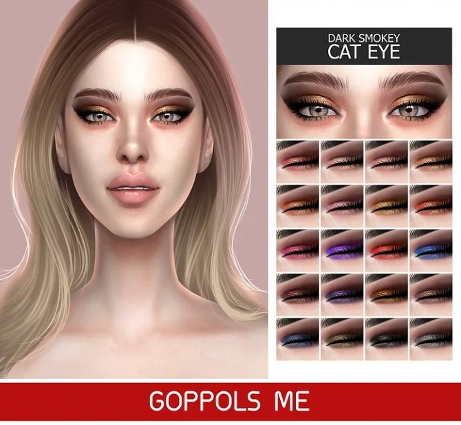 Sims 4 GPME GOLD Dark Smokey Cat Eye at GOPPOLS Me