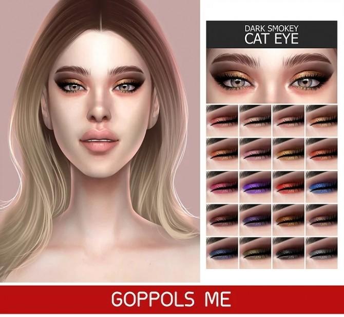GPME GOLD Dark Smokey Cat Eye at GOPPOLS Me image 1523 670x618 Sims 4 Updates